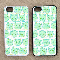 Funny Hipster Cat iPhone Case, iPhone 5 Case, iPhone 4S Case, iPhone 4 Case - SKU: 186