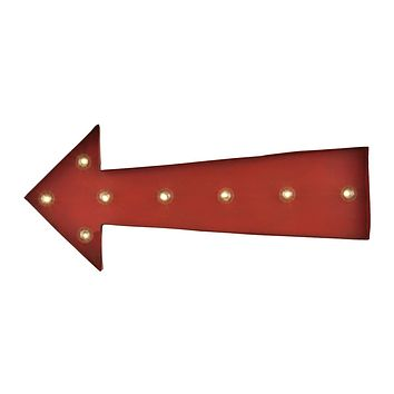 Arrow Marquee Sign In Antique Red