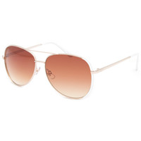 Full Tilt Air Mail Sunglasses White/Gold One Size For Women 23331698301