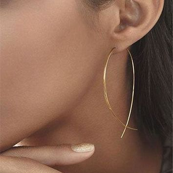 Fish Shaped Hoop Earrings