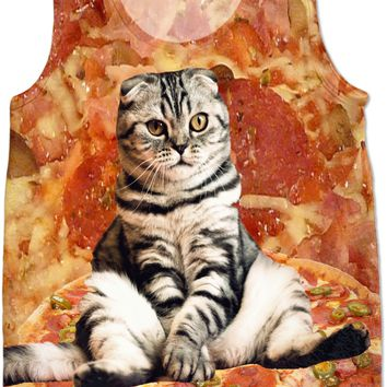 Pizza Cat Tank Top
