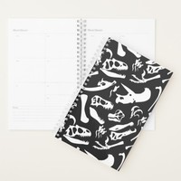 Dinosaur Bones (Black and White) Planner