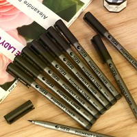 Soft Brush Marker Pigment Liner Calligraphy Brush Pen Fineliner Cartoon Drawing Sketch Art Marker Sketch Liner Arts Supplies