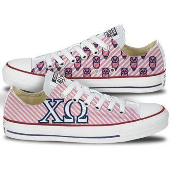 VONR3I Chi Omega Converse All Star Low Top