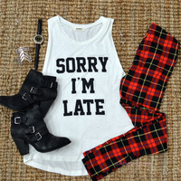 Rad Plaid Red Leggings