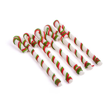 Christmas Rawhide Laced Candy Cane 5p