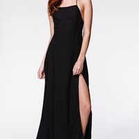 Motel Rocks Sia Maxi Dress - Womens Dress - Black