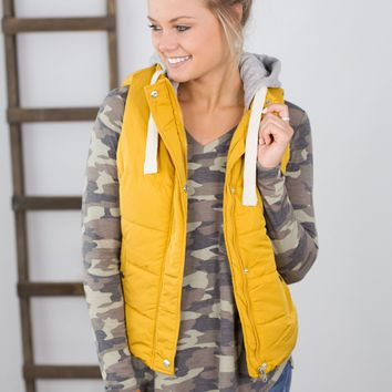 Hooded Puffer Vest- Multiple Options