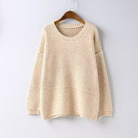 Long-Sleeve Knitted Shirt