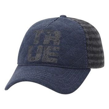 Men's True Religion Brand Jeans Heathered Flannel Baseball Cap