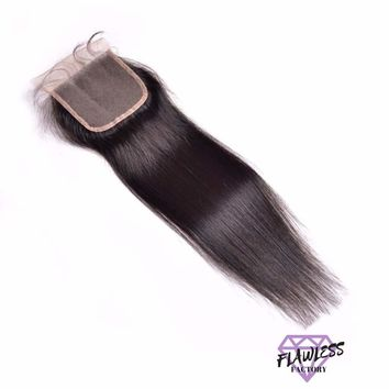 Brazilian Silky Straight Lace Closure