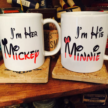 Her Mickey His Minnie Coffee Mug SET