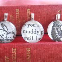 1957 Vintage Muddy Winnie the Pooh Mini Pendants by SovereignSea