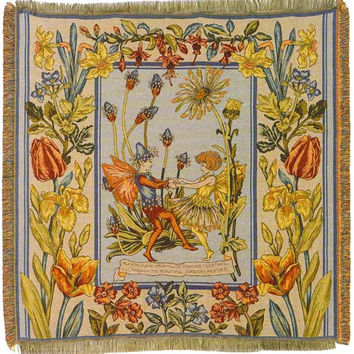 Cicely Mary Barker European Throw Blanket