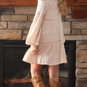 Off Shoulder Dress - Cream