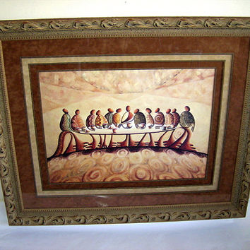 """""""The Last Supper"""" Framed"""