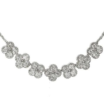 Van Cleef & Arpels Arno Alhambra Diamond White Gold Necklace