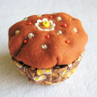 Decorated Trinket Box, Felt Chocolate Cupcake