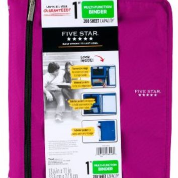 Five Star Customizable Binder with Removable Fixture, 1-Inch, Purple (72985)