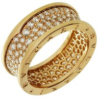 Bulgari B.Zero1 18 Karat Rose Gold Diamond Band Ring