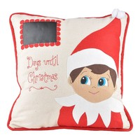 Glory Haus Elf ''Days Until Christmas'' Chalkboard Throw Pillow (White)