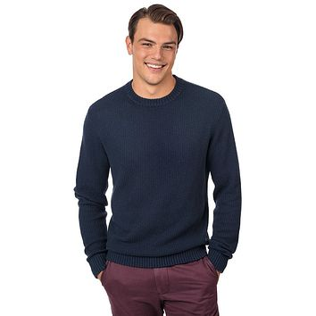 Waffle Knit Sweater in True Navy by Southern Tide