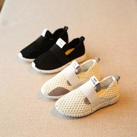 Girls Outdoors Shoes breathable gauze casual