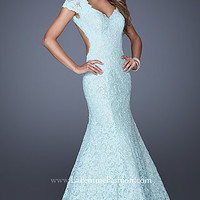 Lace Mermaid Gown by La Femme 20117