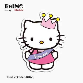 HELLO KITTY sticker cartoon anime cute waterproof suitcase laptop guitar luggage skateboard bicycle toy lovely A0168 stickers