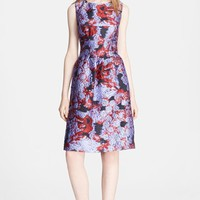 Lela Rose Print Fil Coupe Sheath Dress