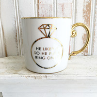 Rosanna Gifts Love Is In The Air Put A Ring On It Mug