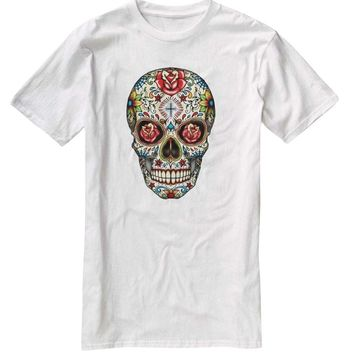 Nu Image Sugar Skull Roses Day Of The Dead Cool T-Shirt