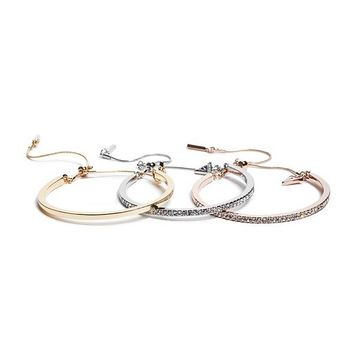 Calista Mixed-Metal Bangel Set at Guess