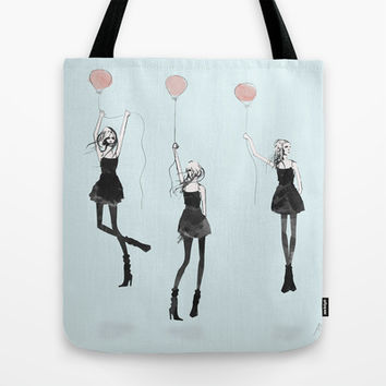 Girls Afloat Tote Bag by Allison Reich