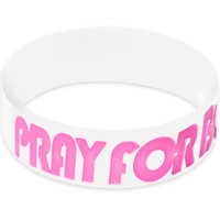 White Pink Pray for Boobies Awareness for Breast Cancer Bracelet | Body Candy Body Jewelry