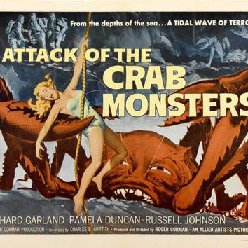Attack of the Crab Monsters 27x40 Movie Poster (1957)