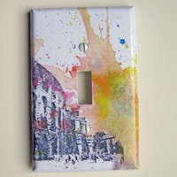 Italian Rome Colosseum Decorative Light Switch Plate by idillard