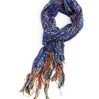 Bright Colored Multi Stripe Scarf