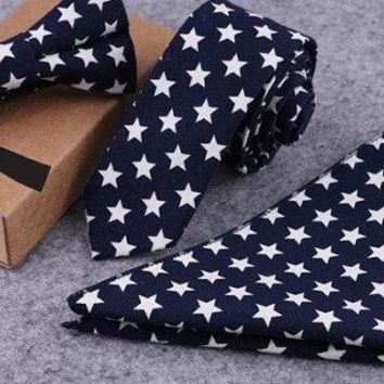 Tie Pocket Square Bow Tie Set Boyfriend Gift Men's Gift Anniversary Gift for Men Husband Gift Wedding Gift For Him Groomsmen Gift for Friend