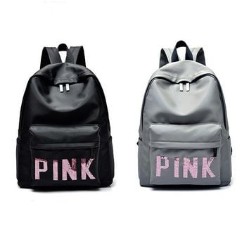 Day-First™ Victoria's Secret PINK : Casual Sport Laptop Bag Shoulder School Bag Backpack