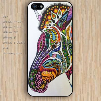 iPhone 5s 6 case colorful watercolor zebra phone case iphone case,ipod case,samsung galaxy case available plastic rubber case waterproof B295