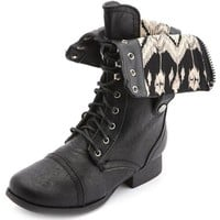 FOLD-OVER LACE-UP COMBAT BOOT