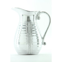 Wilton Armetale Flutes and Pearls Beverage Pitcher, 4-Inch by 8-Inch, 2-Quart