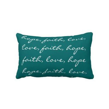 Square Faith Hope Love Pillow American MoJo Pillow from Zazzle.com