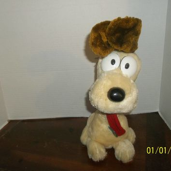 "vintage 1983 dakin garfield friend odie puppy dog plush 14"" tall"