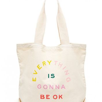 Everything Is Gonna Be Ok Canvas Tote Bag