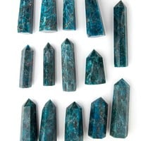 Blue Apatite Polished Point Wand