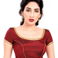 Classy Maroon Ready-Made Saree Blouse X-144S