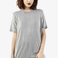 Pierre Oversized Ribbed Tee - Grey