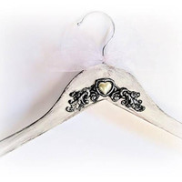 Bridal Hanger White Dress Hanger Personalized Wedding Gown Hanger Bride Hanger Wedding Name Hanger Bridal Party Gift Briddesmaid Hanger